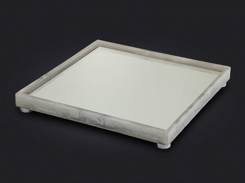 Square resin tray SLIM MEDIUM by Vallvé