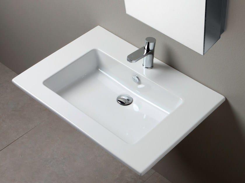 Single ceramic washbasin countertop SLIM | Single washbasin countertop by AZZURRA sanitari