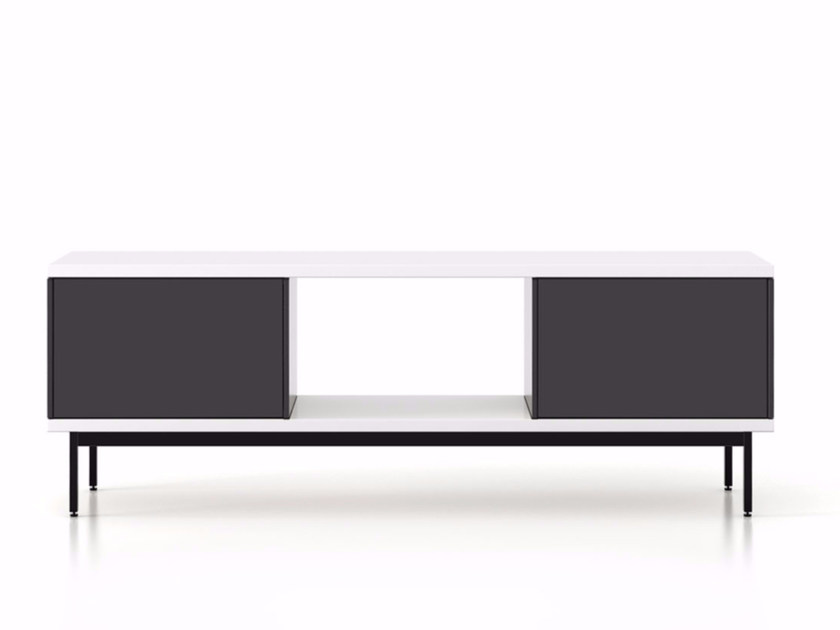 Lacquered wooden sideboard with doors SLT013 | Sideboard with doors - Punt