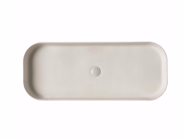 Countertop rectangular ceramic washbasin SMART B - 38x95 cm - GALASSIA
