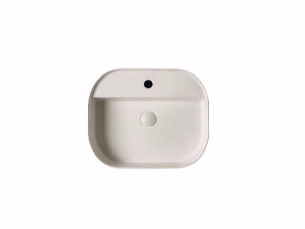 Countertop rectangular ceramic washbasin SMART B - 45x55 cm - GALASSIA