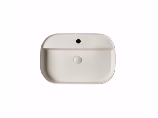 Countertop rectangular ceramic washbasin SMART B - 45x65 cm - GALASSIA
