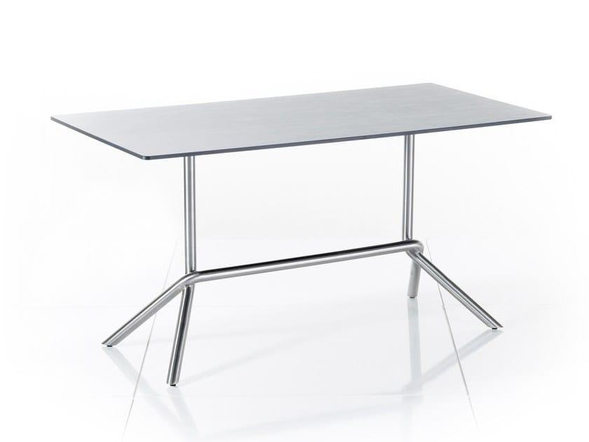 Folding rectangular HPL garden table SMART SERIES | Rectangular table - solpuri