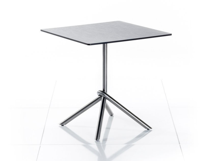 Drop-leaf square HPL garden table SMART SERIES | Square table - solpuri
