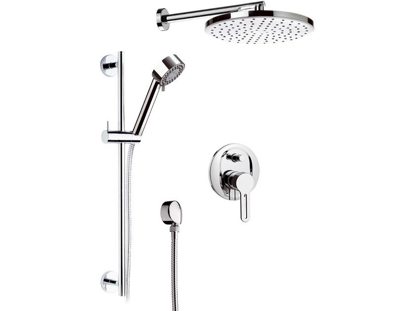 Built-in shower panel with hand shower and overhead shower SMART | Shower panel - Daniel Rubinetterie