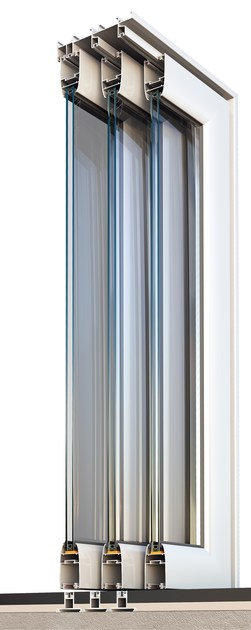 Porta finestra scorrevole smartia m12000 alumil - Porta finestra scorrevole esterna ...