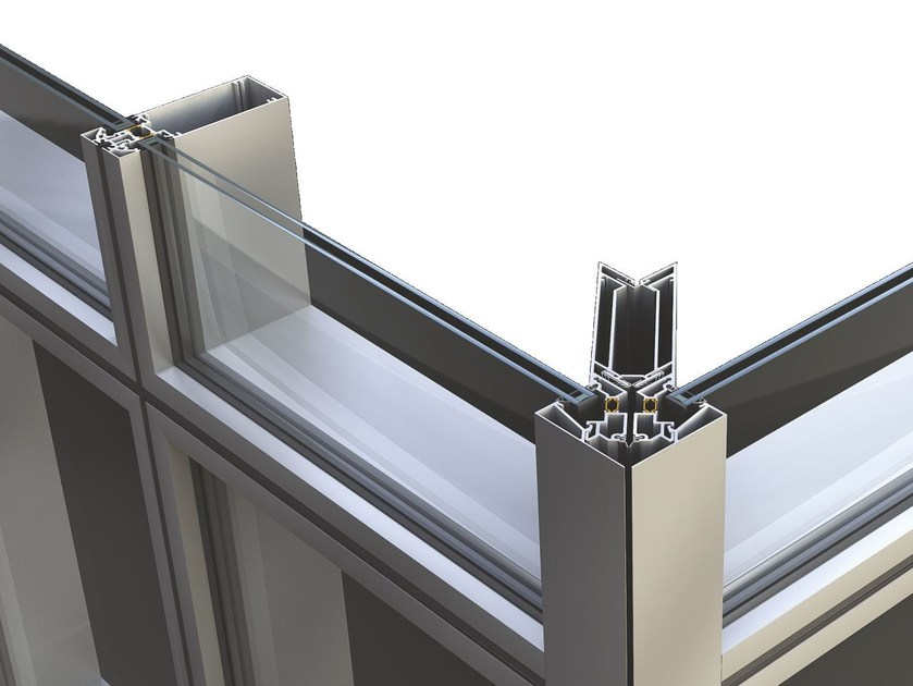 Continuous facade system SMARTIA M85 by Alumil