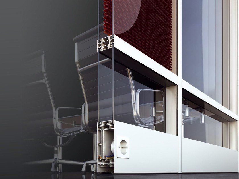 Parete mobile in vetro SMARTIA P100 by Alumil