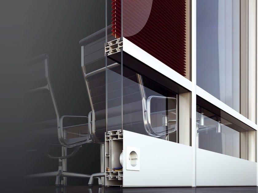 Glass partition wall SMARTIA P100 - Alumil