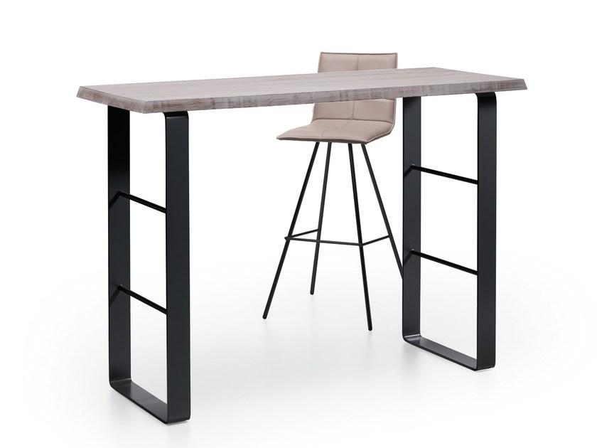 Rectangular wooden high table SNACK by Natisa