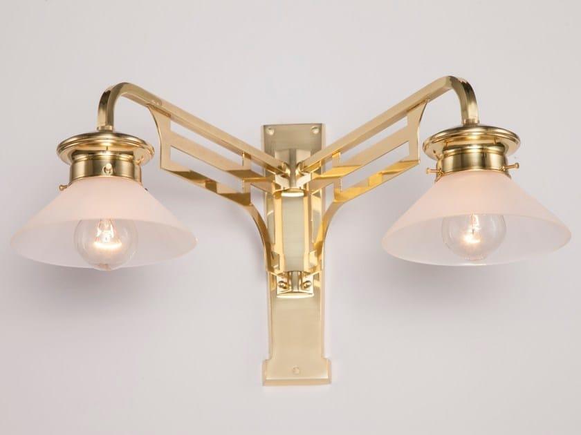 Lampada da parete a luce diretta fatta a mano in ottone SNOOKER II   Lampada da parete - Patinas Lighting