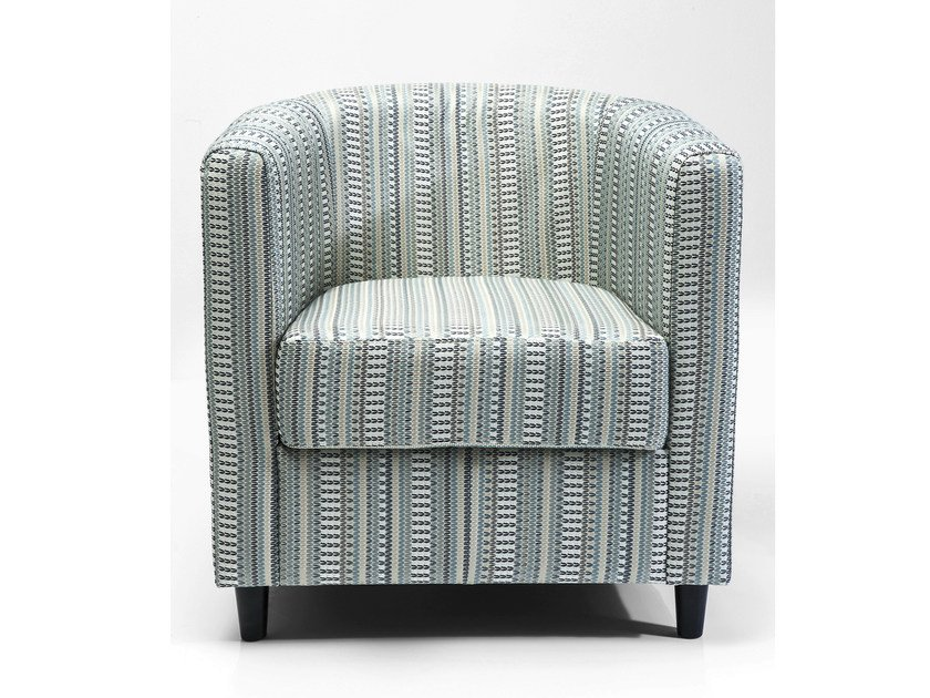 Fabric armchair with armrests SNUG MURRAY - KARE-DESIGN