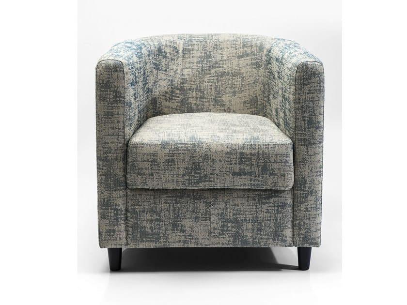 Fabric armchair with armrests SNUG SELENGA - KARE-DESIGN