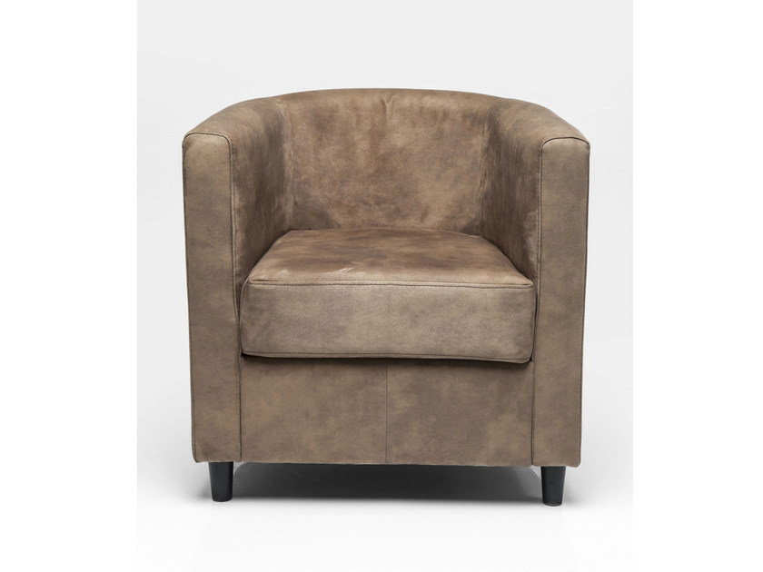 Fabric armchair with armrests SNUG TONKA - KARE-DESIGN