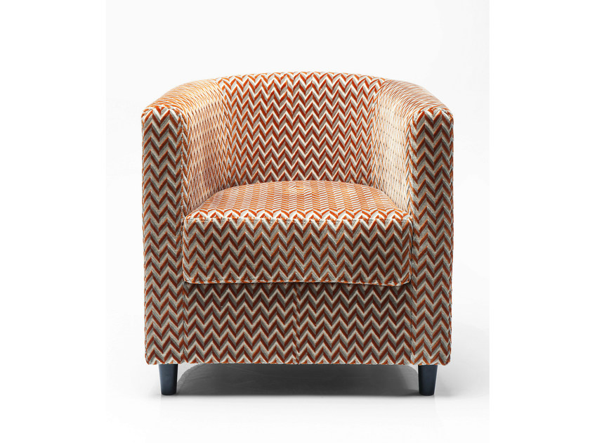 Fabric armchair with armrests SNUG ZIGZAG - KARE-DESIGN
