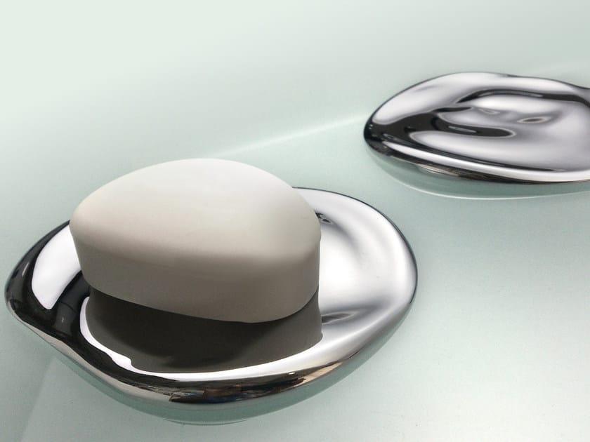 Portasapone da appoggio in ottone cromato ETHER | Portasapone - JUSTIME