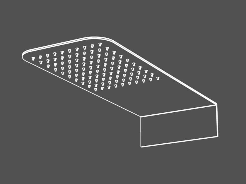 Wall-mounted stainless steel rain shower SOF5 | Overhead shower - Radomonte