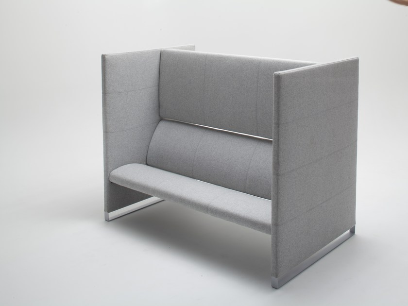 High-back fabric sofa PLUS | Sofa - BALMA