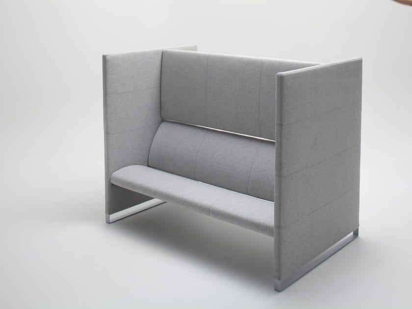 High-back fabric sofa PLUS | Sofa by BALMA