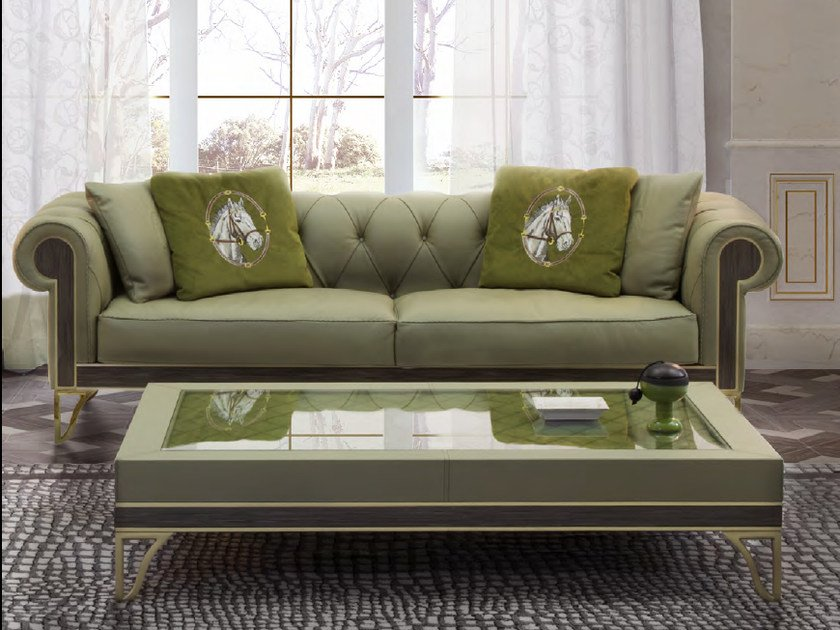 Tufted upholstered 3 seater leather sofa GRANADA | Sofa - Formitalia Group
