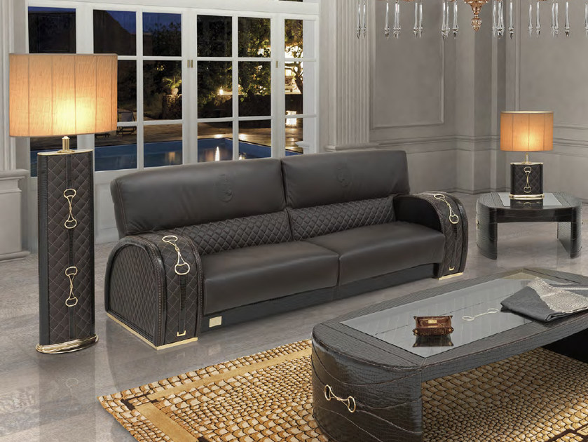 Upholstered 3 seater leather sofa WINDSOR | Sofa by Formitalia Group
