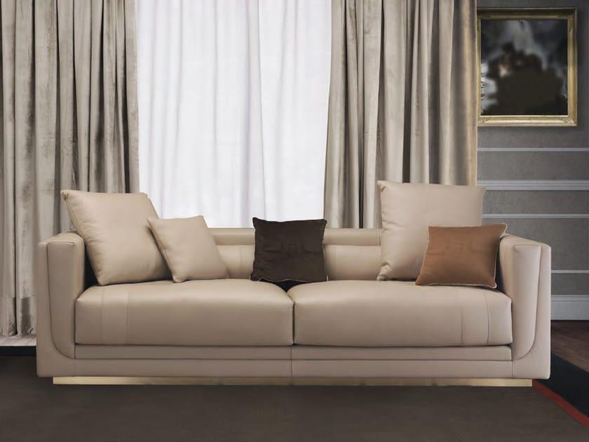 Upholstered 3 seater leather sofa EMMA | Sofa - Formitalia Group