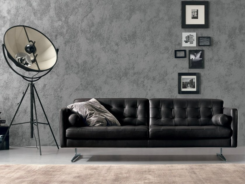 Tufted leather sofa GRAN TORINO | Sofa by Max Divani