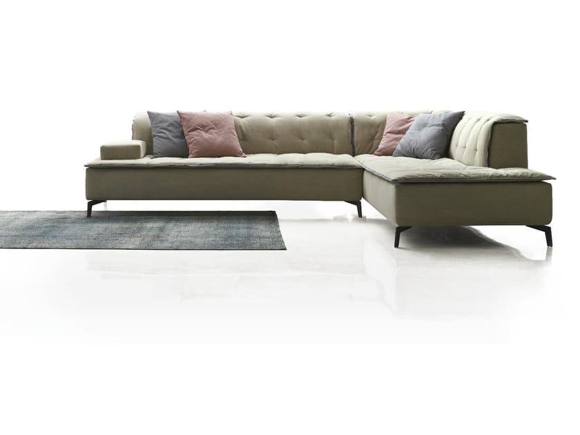 Corner tufted fabric sofa BELLINI | Sofa by Papadatos