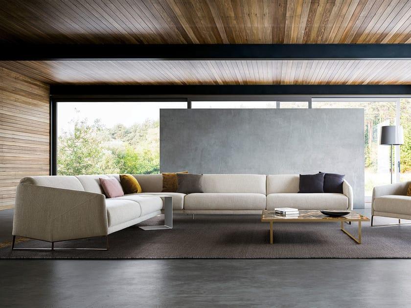 Corner fabric sofa ASOLO | Corner sofa by PIANCA