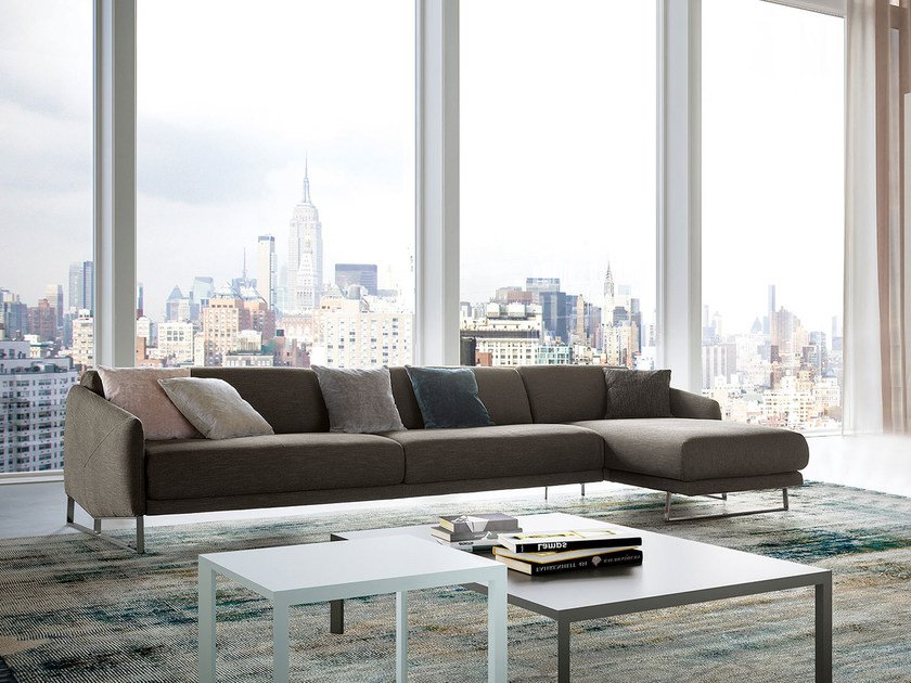 Sofa with chaise longue ASOLO   Sofa with chaise longue by PIANCA