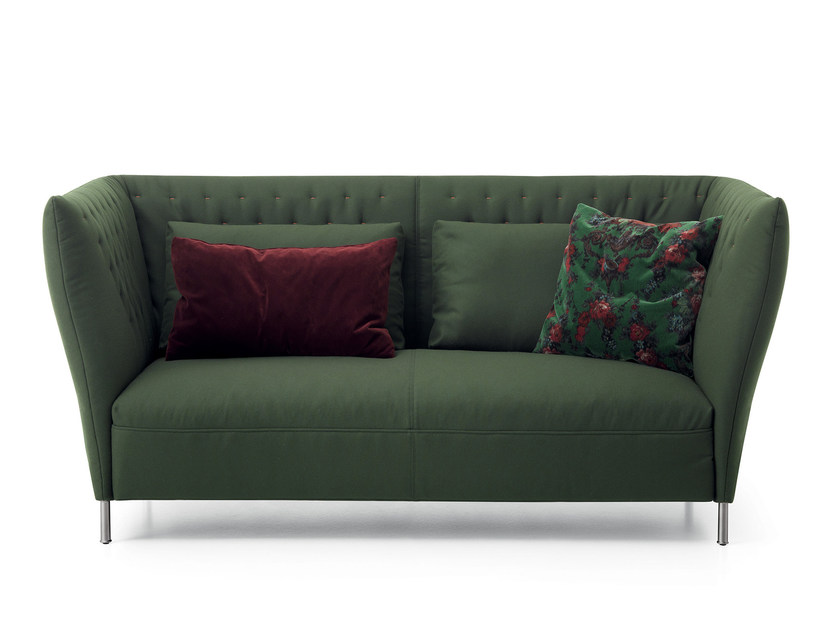 Upholstered 2 seater leisure sofa QUILT | Sofa by Saba Italia