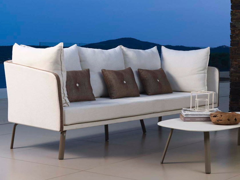 3 seater fabric garden sofa MILO FABRIC | Sofa - Talenti