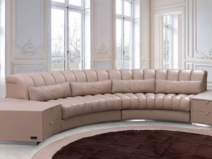 Sectional upholstered leather sofa ZOLDER | Sofa - Tonino Lamborghini Casa