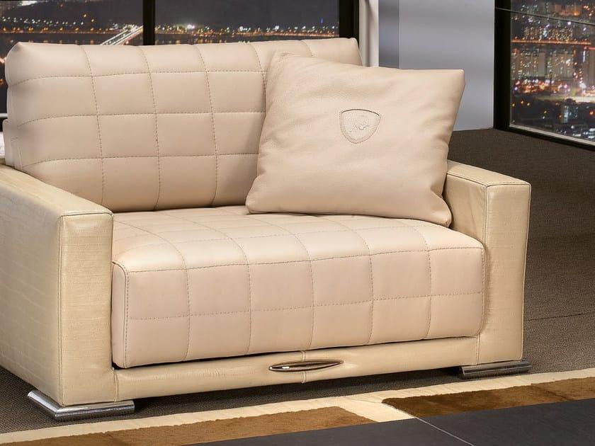 Poltrona imbottita relax in pelle con funzioni motorizzate BOOST | Poltrona - Tonino Lamborghini Casa by Formitalia Group
