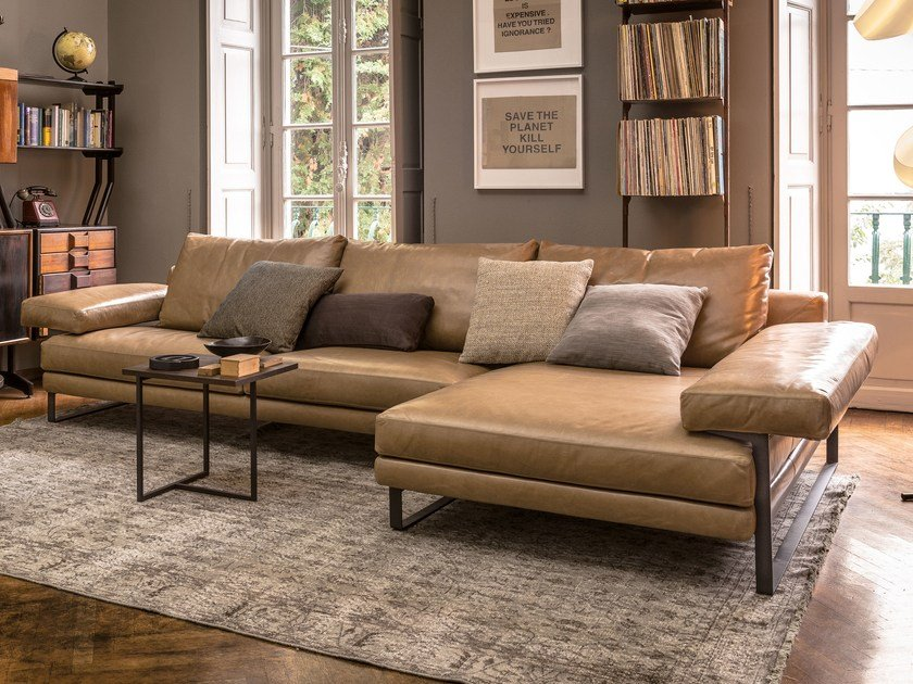 Sectional leather sofa EGO | Sectional sofa - Arketipo