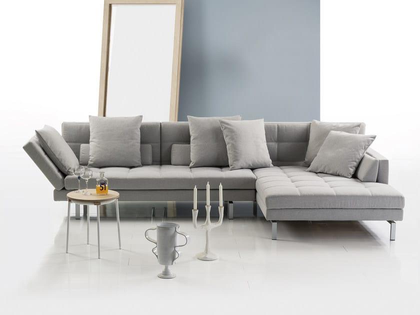 Divano reclinabile in tessuto con chaise longue AMBER | Divano con ...