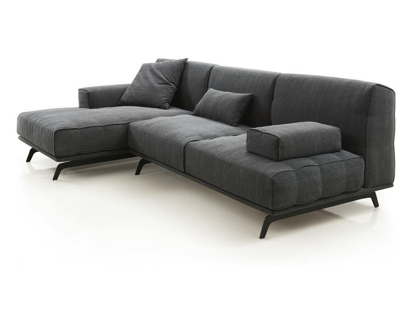 Fabric sofa with chaise longue SIXTY | Sofa with chaise longue by Papadatos