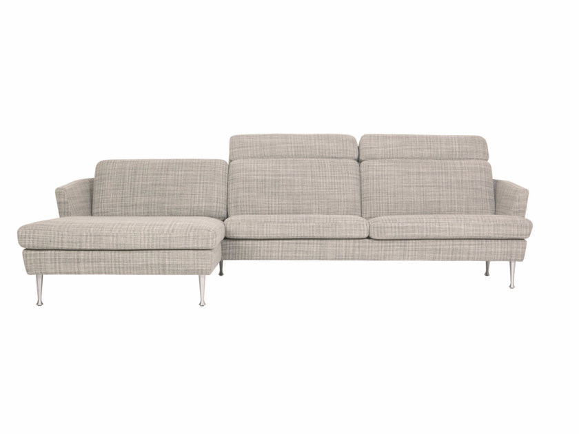 Sectional 4 seater fabric sofa with chaise longue TIMJAN | Sofa with chaise longue - SITS
