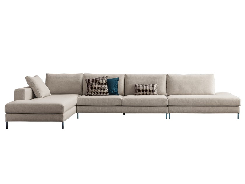 Sofa with removable cover with chaise longue OVER | Sofa with chaise longue by Twils