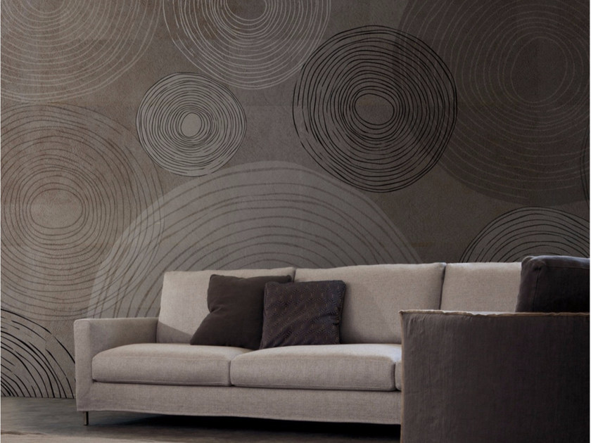 Contemporary style motif wallpaper SOFT CIRCLES - Inkiostro Bianco