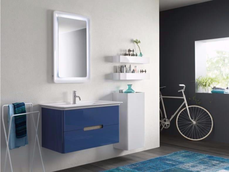 Laminate bathroom cabinet / vanity unit SOFT - Composizione 2 - INDA®