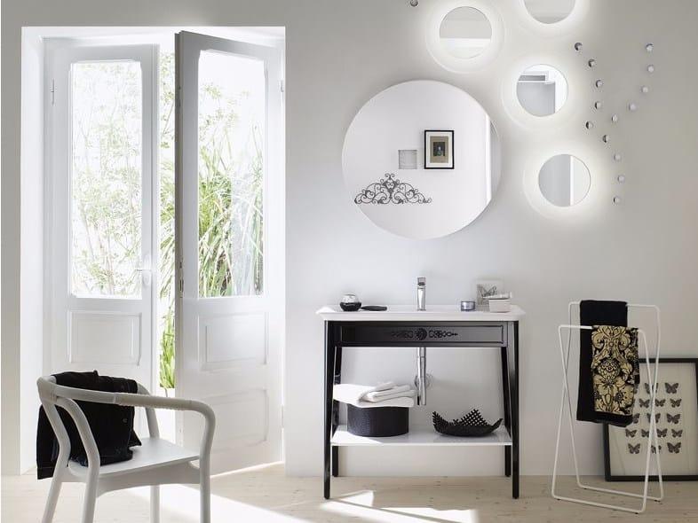 Floor-standing laminate vanity unit SOFT CONSOLE - Composizione 2 - INDA®