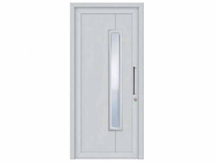 Exterior custom glazed PVC entry door SOFT DAMASCO by FOSSATI PVC