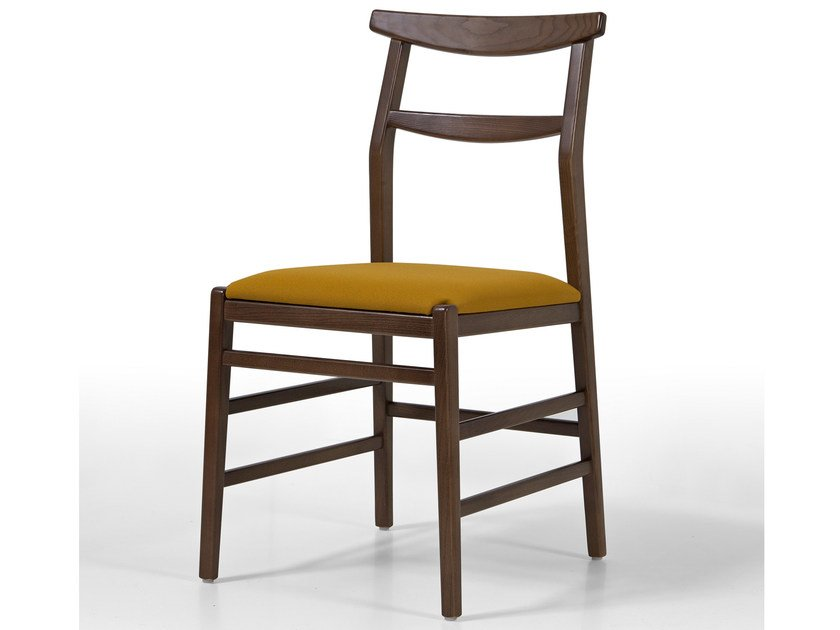 Upholstered wooden chair SOFT by Fenabel