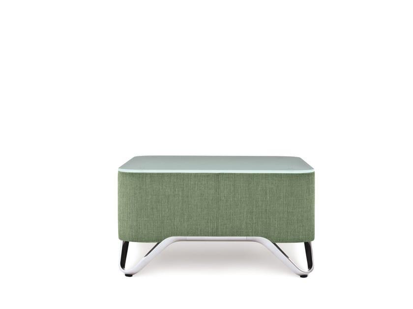 Square coffee table SOFTBOX S2 by profim