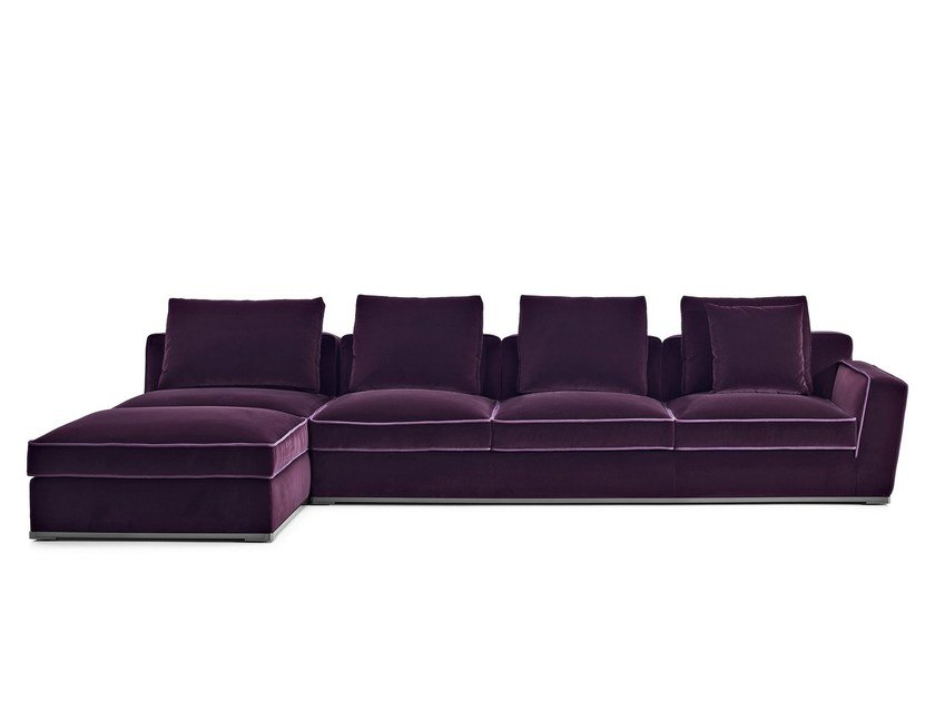 Sectional fabric sofa with chaise longue SOLATIUM | Sofa with chaise longue - Maxalto, a brand of B&B Italia Spa