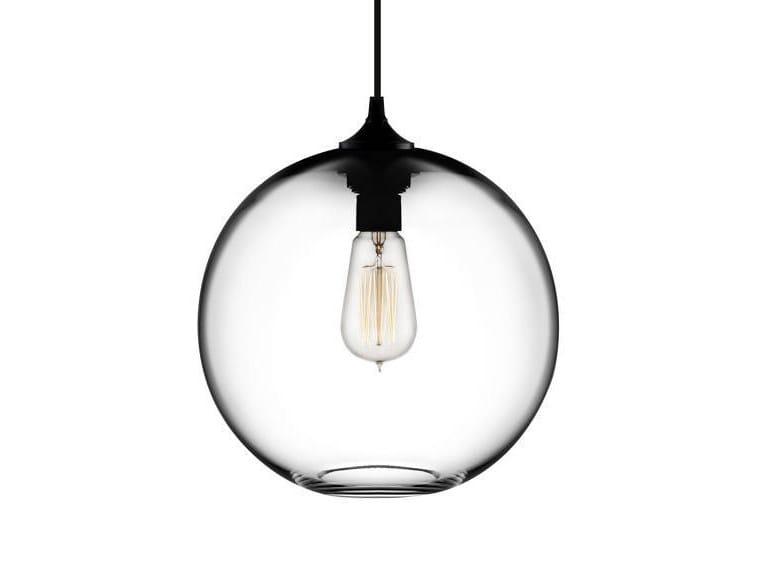 Lampada a sospensione a LED fatta a mano in vetro soffiato SOLITAIRE | Lampada a sospensione - Niche Modern
