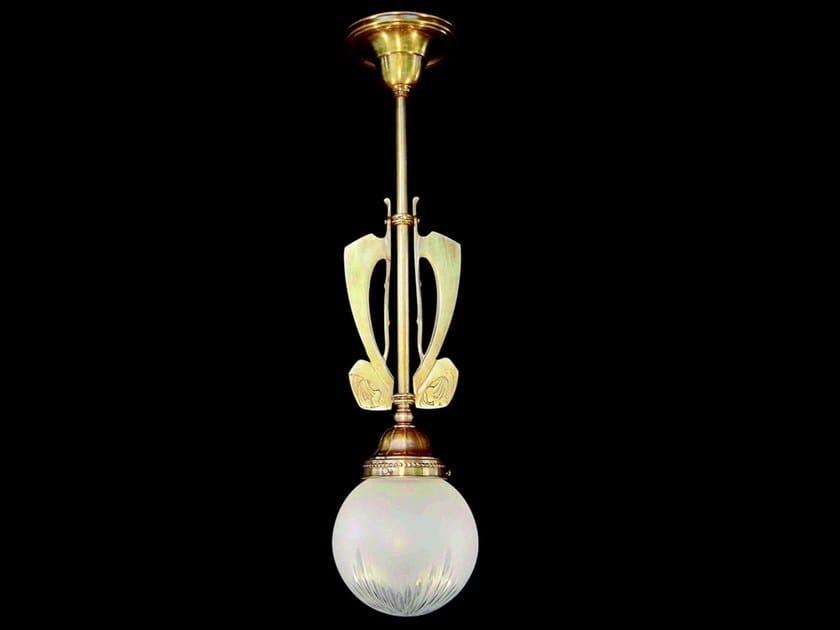 Lampada a sospensione a luce diretta in ottone SOLO III | Lampada a sospensione - Patinas Lighting