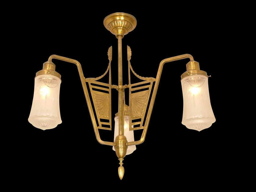 Direct light brass chandelier SOLO IV | Chandelier - Patinas Lighting