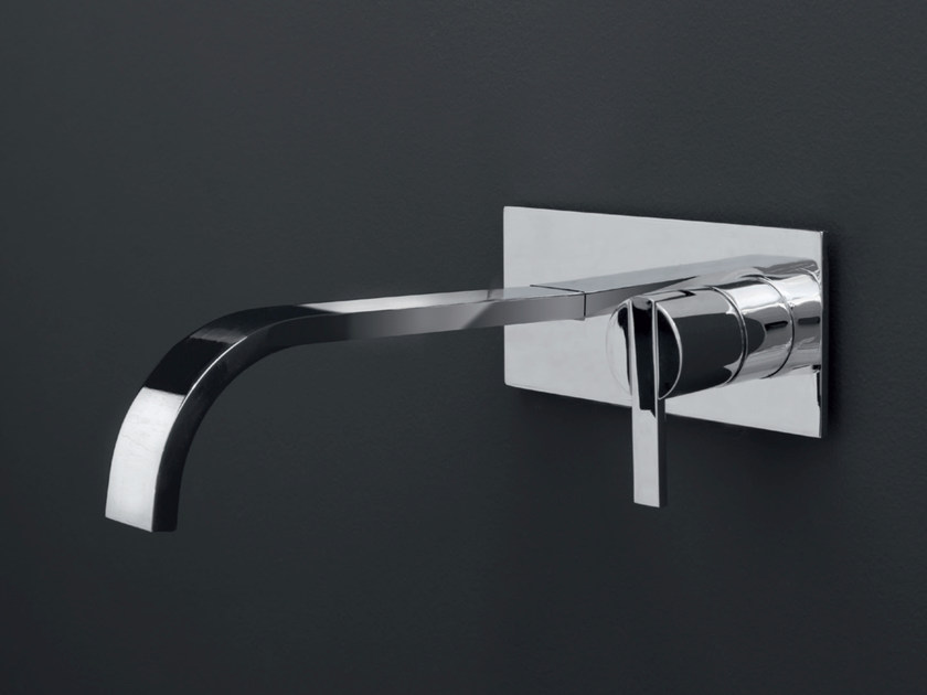 Wall-mounted single handle washbasin mixer SOLO | Wall-mounted washbasin mixer by Nic Design